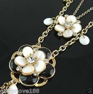 New Womens Beautiful 2 rows shell Flowers Necklaces Fashion Jewelry