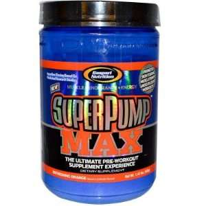 Gaspari  Super Pump Max, Orange, 1.4lbs: Health & Personal