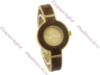 New Lucky Brand Ladies Gold Tone Leather Bracelet Watch