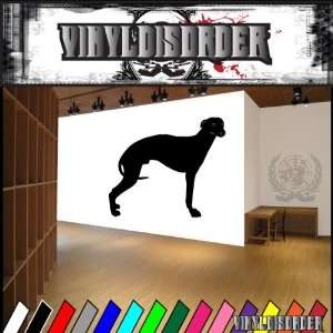 Dogs Hound Whippet Vinyl Decal Wall Art Sticker Mural