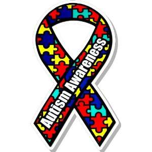 Autism Awareness Ribbon Bumper Sticker Decal: Everything