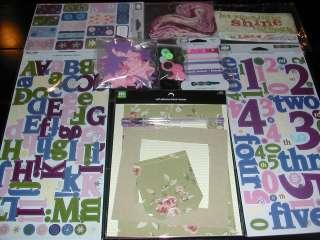 SWEET GIRLY GIRL Pink Purple Sticker Cloud 9 LOT *FREE Ship
