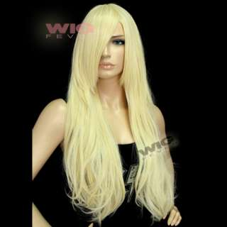 Long Golden Blonde Wavy Hair Wigs 9711