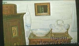 Royal Doulton Wash Bowl Set Blue Mounds Wisc Postcard