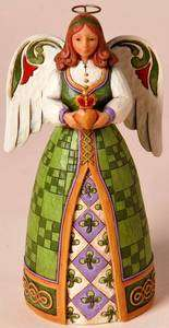 2011 JIM SHORE HWC *FILL YOUR HEART WITH IRISH BLESSINGS* IRISH ANGEL
