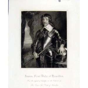 James First Duke Hamilton Portrait Fine Art Antique