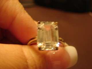 Ladys 5 CT. White Topaz Ring 14K Solid White Gold