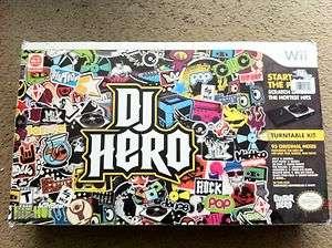 Nintendo Wii DJ Hero Bundle with Turntable(opened box)