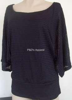 New Dressbarn Womens Plus Size Clothing 16 20 24 Black Shirt Knit Top
