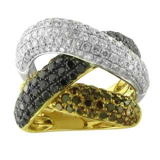 14K SOLID YELLOW GOLD PAVE DIAMOND RING FASHION WOMEN ESTATE WHOLESALE