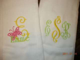 Carrie ♥ 3 Personalized BURP CLOTH ♥ Baby Shower Gift