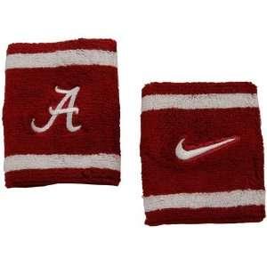 Nike Alabama Crimson Tide Elite NCAA Team Logo Wristbands