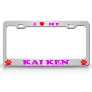 High Quality STEEL /METAL Auto License Plate Frame, Chrome/Pn/Red