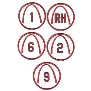St. Louis Cardinals Retired Number 3 Patches   Complete