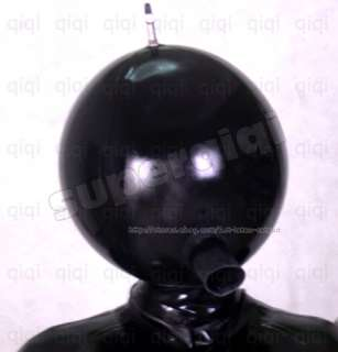 Latex/Rubber 0.8mm Inflatable Catsuit mask suit heavy ball hood thick