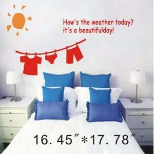 Large  Easy instant decoration wall sticker decor  Hows the weather