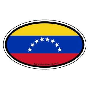 Venezuela Flag Car Bumper Sticker Decal Oval