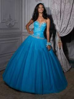 Blue Ball Gown Wedding Bridesmaid Quinceanera Dresses Party Prom