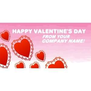 3x6 Vinyl Banner   Happy Valentines Day From name