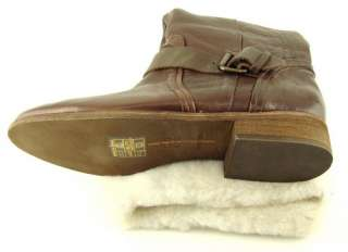 DEREK Brown SheepSkin Cuff Womens Shoes High Winter Boots 6.5