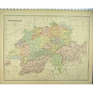 Antique Colour Map Switzerland Baden France Print Home & Kitchen