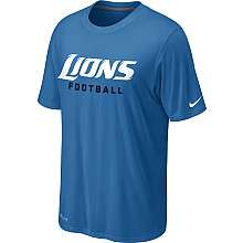 Nike Detroit Lions Sideline Legend Authentic Font Dri FIT T Shirt