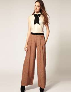 River Island  River Island Small Floral Print Palazzo Trousers at
