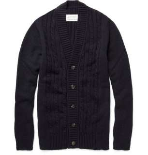Clothing  Knitwear  Cardigans  Cable Knit Panel