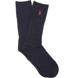 Accessories  Socks  Casual socks  Ribbed Cotton Blend Socks