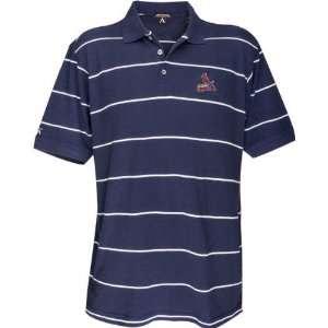 St. Louis Cardinals Classic Pique Striped Polo Sports
