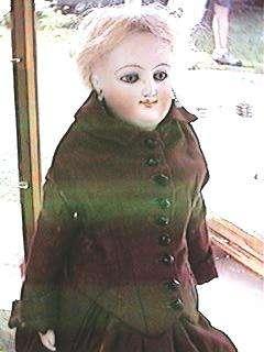 16 French Fashion Smiling Bru Doll F Mark on Head