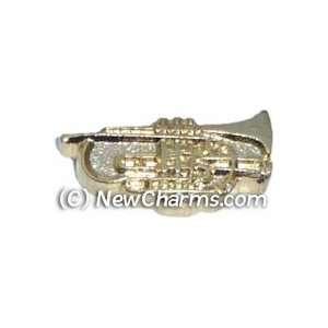 Trumpet Floating Locket Charm Jewelry