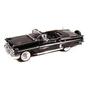 1958 Chevy Impala Convertible 1/18 Black: Toys & Games
