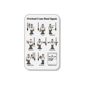 Labels OVERHEAD CRANE HAND SIGNALS (WALLET CARD) 3 3/8 x