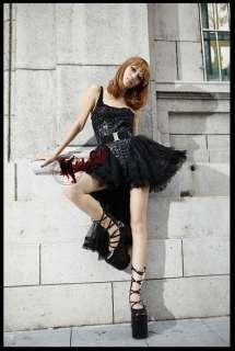 Lack Body Kleid Kei Visual Gothic Punk Rock Kostüme
