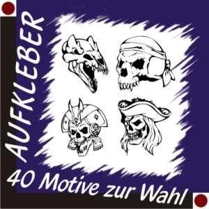 SKULL Aufkleber Autoaufkleber Totenkopf Sticker 30 cm