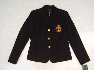 Polo Ralph Lauren Wired Crest Crown Pony M Blazer Womens Jacket Sport