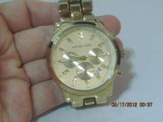 Michael Kors MK 5364 Womens Goldtone Stainless Steel Chronograph Date