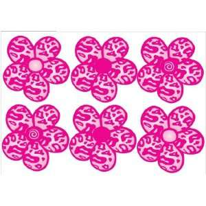 Pink on Pink Leopard Print Flower Wall Stickers