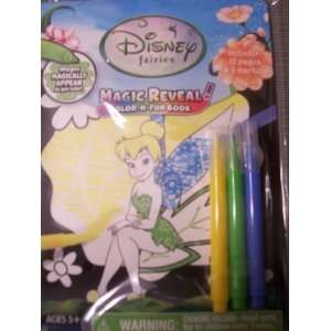 Disney Fairies Magic Reveal Color n fun Book Toys & Games
