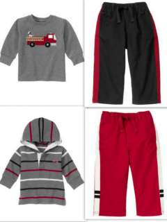 NWT Gymboree FIRE TRUCK CHIEF Pants Shirt Hoodie 4T 5T