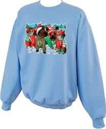 NOEL Christmas Dogs Crewneck Sweatshirt S  5x