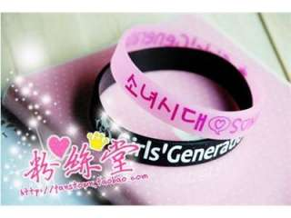 Generation Fans Wrist Band Bracelet Supporters Band Set PinkXBlack