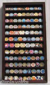 Large 108 Military Challenge Coin Display Rack Case Cabinet Wall Rack