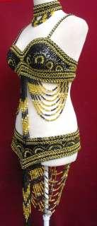 GB Costume Dance Drag Queen Showgirl Belly L XL XXL