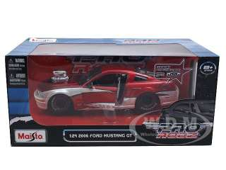 car model of 2006 Ford Mustang GT Pro Street Red Pro Rodz by Maisto