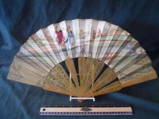 Antique Hand Painted & SIGNED Victorian Fan NO RESERVE