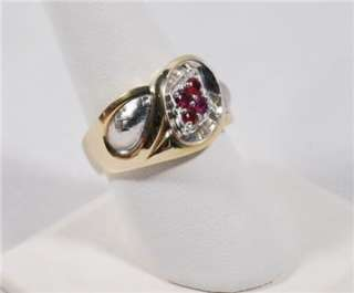 vintage estate14k gold ruby men s cocktail ring heirloom jewelry
