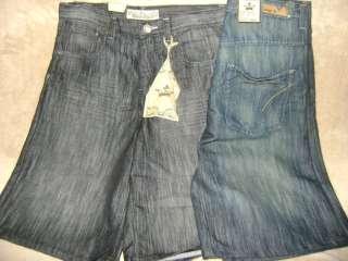 New~Mens Indigo Thirty Jean Shorts Blk Blue 32 34 36 38