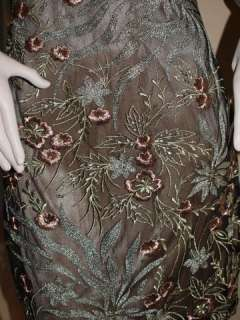 Sue Wong Beaded & Embroidered Lace Dress( Size 12)